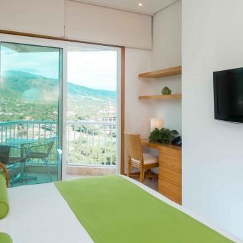 Suite tipo apartamento con vista al mar en Santa Marta